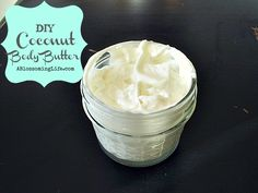 Homemade Whipped Coconut Body Butter: I made this and it feels wonderful but I do think I am going to add a bit of beeswax to it and rewhip it because it does get a bit melty at room temp. BUT I LOVE the way it feels on my skin. Best Body Butter, Homemade Body Butter, Whipped Body Butter, Homemade Skin Care, Homemade Beauty Products, Diy Skin Care, Natural Products, Body Products, Homemade Soaps