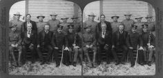 Teddy Roosevelt and a slew of his Rough Riders at a Rough Rider Reunion in San Antonio, 1905.