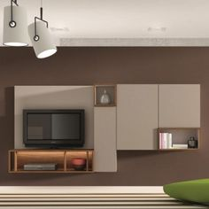 meuble tele on pinterest murals tvs and salons. Black Bedroom Furniture Sets. Home Design Ideas
