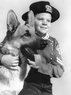 "'Rin-Tin Tin'. 50's tv show.My sister was a big fan and would yell ""Yo, Rinny"" whenever she saw a German Shepherd!"