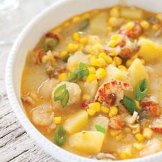 Crawfish and Corn Chowder - Louisiana Cookin - This Crawfish and Corn Chowder was made for Mardi Gras parties. This Crawfish and Corn Chowder was - Crawfish Recipes, Cajun Recipes, Seafood Recipes, Soup Recipes, Cooking Recipes, Haitian Recipes, Crawfish Bread, Cajun Crawfish, Crawfish Etouffee