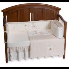 """New ❤️ Natures Purest Organic Unisex Nursery Set RARE! New, never used & in packaging!      Included: (a lot not in pictures) - Natures Purest Hug Me 4 piece crib set with bumper pad, comforter, 1 fitted sheet & dust ruffle - Natures Purest Hug Me: musical mobile, plush bear, valence, blanket, diaper stacker - 2 additional Natures Purest Hug Me fitted jersey knit crib sheets - Natural Organic Cotton fitted crib sheet   (Over $600 value!!!)  Comforter 28"""" W x 52"""" L. Bed Skirt has 14"""" drop…"""