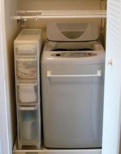 洗濯機の横に収納ストッカー