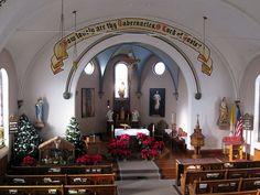 St. Joseph Catholic Church), decorated for Christmas