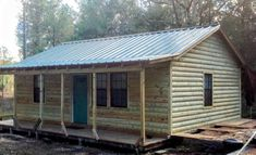 Log Cabin Siding direct from the manufacturer in Flomaton, AL - Southern Wood Specialties - P: 251-296-2556 Heart Pine Flooring, Pine Floors, Log Cabin Siding, Exterior Siding, Shed, Outdoor Structures, Southern, Homes, Yellow