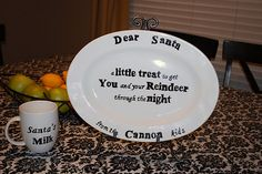 plate for santa's cookies