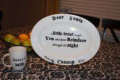 plate for santa's cookies