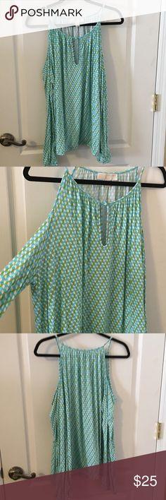 Michael Kors Ladies Cold Shoulder Blouse XL Never Worn MK Ladies Blouse XL Michael Kors Tops Blouses