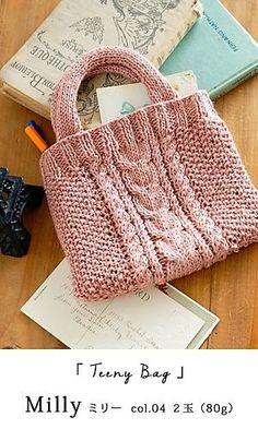 crochet bags pattern Ravelry: Teeny Bag pattern by Pierrot (Gosyo Co., Ltd)- free pattern - Knitting Designs, Knitting Patterns Free, Free Knitting, Knitting Projects, Bag Pattern Free, Tote Pattern, Purse Patterns, Sewing Patterns, Crochet Shell Stitch