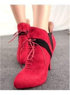 Chic Stiletto Lace-UP Ankle Boots