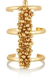 Fishbone of Grapes gold-plated cuff