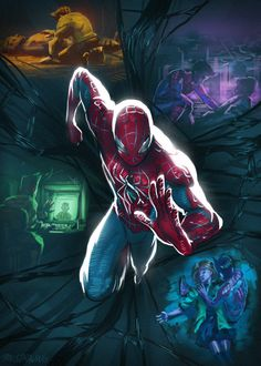 Explore the Marvel collection - the favourite images chosen by on DeviantArt. Spiderman Art, Amazing Spiderman, Spiderman Suits, Marvel Art, Marvel Heroes, Comic Kunst, Comic Art, Comic Pictures, Spider Verse