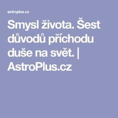 Smysl života. Šest důvodů příchodu duše na svět. | AstroPlus.cz