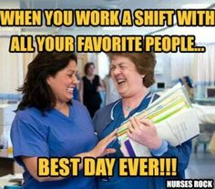 15 Totally Free Nursing Apps Every Nurse Must Have - Cashier Humor - Cashier Humor meme - - When you work a shift with all your favorite people BEST DAY EVER! The post 15 Totally Free Nursing Apps Every Nurse Must Have appeared first on Gag Dad. Nursing Apps, Nursing School Humor, Nursing Memes, Nurse Humor, Funny Nursing, Nursing Quotes, Medical Memes, Happy Nurses Week, Funny Nurse Quotes
