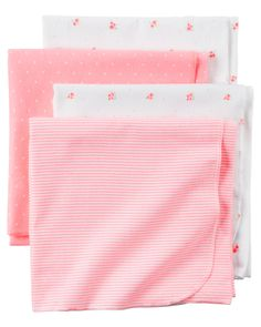 Carter S Butterfly Dot 4 Pack Receiving Blankets Triboro