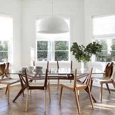 Modern Interiors Design : Effortlessly chic breakfast room with these cool rope chairs via bespokeinterior