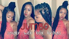 DIY Spider Web Jumbo Box Braids [Video] - https://blackhairinformation.com/video-gallery/diy-spider-web-jumbo-box-braids-video/