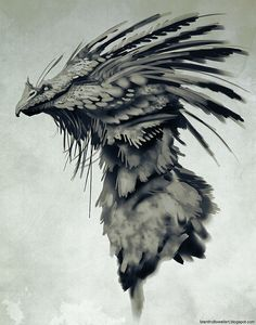 reminds me of Flame Hawks in Truthwitch (by Brent Hollowell)