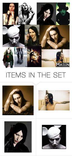 """Marilyn Manson"" by veraillegal ❤ liked on Polyvore featuring art"