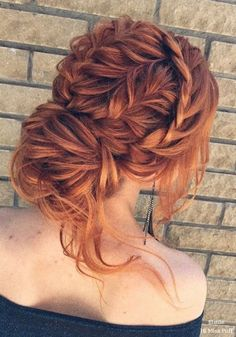100 Wow-Worthy Long Wedding Hairstyles from Elstile | Hi Miss Puff - Part 24 wedding hairstyle // bride hairstyle // prom // braid // red hair