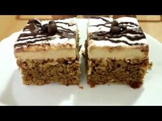 Prajitura cu nuca si ness - YouTube Romanian Food, Food Cakes, Tiramisu, Cake Recipes, Ethnic Recipes, Desserts, Youtube, Sweets, Deserts