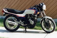 My first sickle. 1983 Honda CBX550F.
