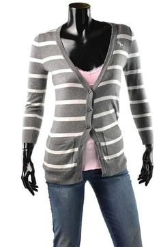Abercrombie & Fitch Sweater Womens Jessica Cardigan Girls Shirt Size S NEW Gray #AbercrombieFitch #Cardigan