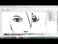 Corel Draw Design, Coreldraw, Youtube, Photoshop, Joy, Investing, Coral, Face Drawings, Glee