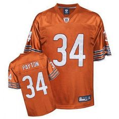 eb71ab594f0 Shop for Official Reebok Chicago Bears #34 Wlter Payton Orange Replica  Jersey. Get Same Day Shipping at NFL Chicago Bears Team Store. Size S, M,L,  2X, 3X, ...