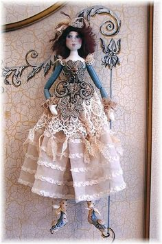 "*NEW* CLOTH ART DOLL PATTERN ""PRILLY"" BY BARBARA WILLIS #BarbaraWillisDesigns"