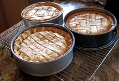 Pastiera di Grano, a traditional Italian Easter pie. We make it every year, and it's delicious!