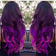 Purple ombré, love it
