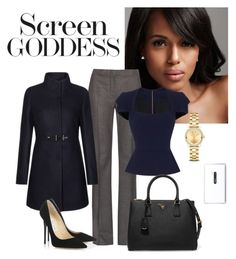 """Olivia Pope Style"" by andrea-leiner ❤ liked on Polyvore featuring MaxMara, Roland Mouret, FAY, Jimmy Choo, Prada, Movado and Nokia"