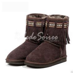Bottes Fourrées-Elégante et sexy Bottes de neige BGG en bottes de cuir des botte