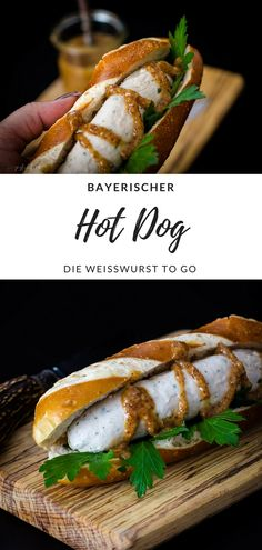 Die Weißwurst to go. Recipe for a Bavarian hot dog. The Weisswurst to go. dog The post Recipe for a Bavarian hot dog. The Weisswurst to go. Chicken Appetizers, Appetizers For Party, Chicken Recipes, Hot Dogs, Hot Dog Buns, Sandwiches For Lunch, Turkey Sandwiches, White Sausage, Burger Recipes