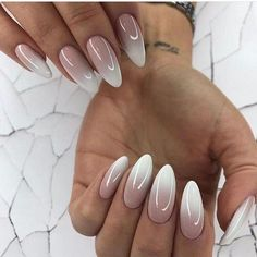 Official – Biting Your Finger Nails Leads To Heart Problems White Almond Nails, White Nails, Modern Nails, My Nails, Hair And Nails, Nagel Gel, Dream Nails, Types Of Nails, Cute Acrylic Nails