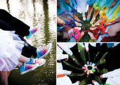 RAINBOW WEDDING RECEPTIONS | Tucson Bride and Groom_rainbow wedding_wedding trend_shoes