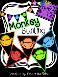 Free Colorful Monkey Bunting! This fun classroom decoration has colorful monkey flags (in two different sizes) that can be used to create a cute bunting for your classroom or birthday parties! This freebie is for personal use only, enjoy!