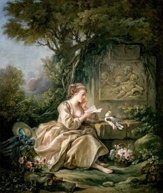 The Secret Message (c.1767) by François Boucher (French, 1703-1770). Oil on canvas.