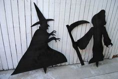 witch grim reaper halloween How to Build Halloween Silhouettes For a Spooky Yard