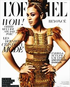 Beyonce on the cover of a magazine