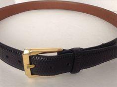 Trafalgar Men's Black Alligator Handmade Belt Size 36 EUC #Trafalgar
