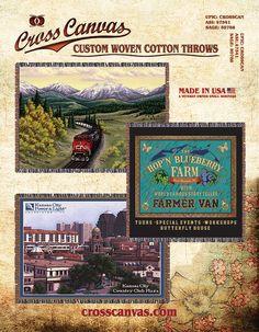 Custom Woven Cotton Throws