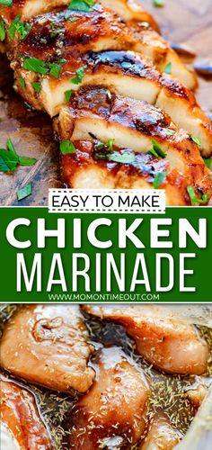 Chicken Marinade Recipes, Chicken Breast Marinades, Grilling Recipes, Meat Recipes, Cooking Recipes, Best Grilled Chicken Marinade, Turkey Recipes, Food Dishes, Kitchen