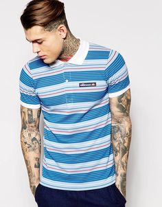 Image 1 ofEllesse Polo Shirt In Stripe