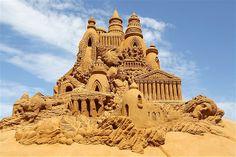 Annual Sand Sculpture Festival, Blankenberge, Belgium.