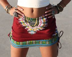 OX BLOOD High or Low waist Tribal skirt, Tribal Skirt, Festival Clothing, Boho, Gypsy, Navajo, Maroon, Festival Skirt, Burning Man Skirt