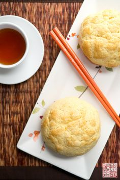 Pineapple Buns (Bolo Bao) - a Hong Kong bakery classic. From www.dessertfirstgirl.com