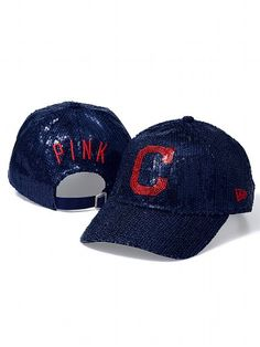 PINK Cleveland Indians Bling Baseball Hat #VictoriasSecret http://www.victoriassecret.com/pink/cleveland-indians/cleveland-indians-bling-baseball-hat-pink?ProductID=106170=OLS?cm_mmc=pinterest-_-product-_-x-_-x