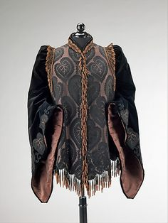 Emile Pingat, Afternoon Jacket with Leaf Pattern Embroidery. French, 1885-1890.